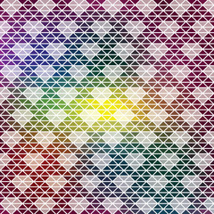 Retro pattern of geometric shapes. Colorful mosaic backdrop. Geometric hipster retro background, place your text on the top of it. Retro triangle background. Diamonds theme.