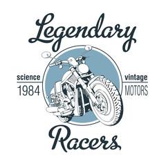 Motorbike t-shirt design. EPS10 vector