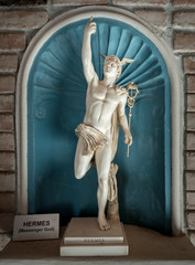 Ancient statue god of commerce Hermes - Mercury