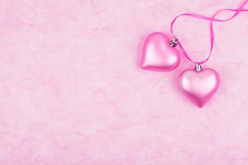 Herz, Liebe, Textfreiraum, pink, Papierhintergrund, Seidenpapier