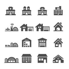 building icon set 7, vector eps10