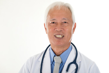 portrait of chinse senior doctor