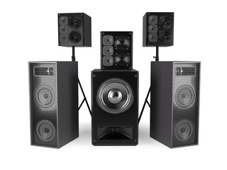 Sound Speakers System Isolated On White