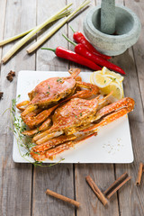 asian style spicy chilli crab, ketam masak cili