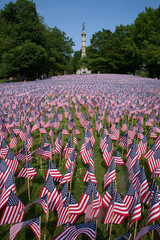 20,000 American Flags are displayed for every resident of Massachusetts who died in a war over the past 100 years, Boston Common, Boston, MA, Memorial Day, 2012.