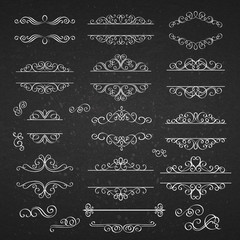 Swirls Vintage Design Elements .