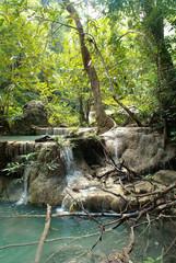 Waterfall in Erawan national park (Thailand)