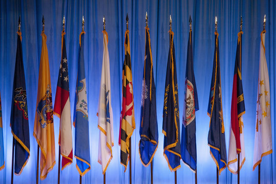 US State Flags at the National Guard Association in Reno, Nevada, 9/11/12.