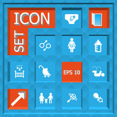 Abstract creative concept vector set of family icons for web and