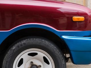 Car wheel from side