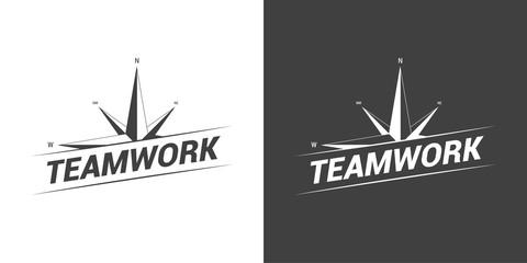 Compass Teamwork Concept