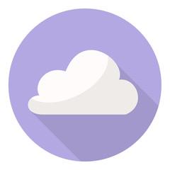 purple cloud flat design