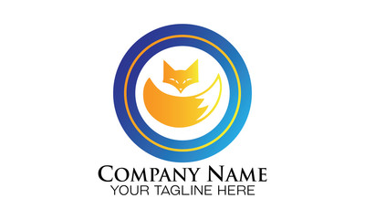 Wolf Tail emblem logo vector