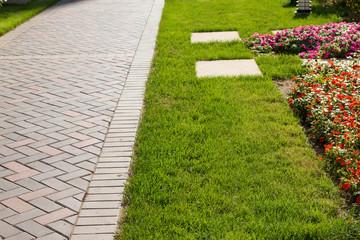 Sidewalk in the garden