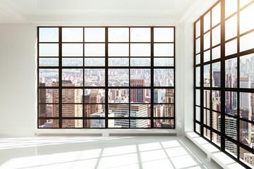 Fototapete - empty white loft interior