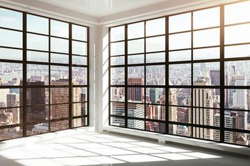 Fototapete - empty white modern interior