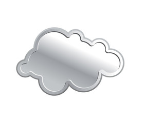 Metallic cloud. Iron sky on a white background. Vector illustrat