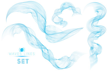 great set blue blend massive waves water abstract background for