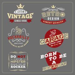 Retro vintage badge design for poster, T-shirt screen, printing, banner logo | Vector illustration design
