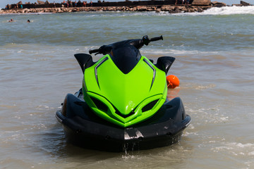 Recess Fitting Water Motor sports jet ski on the beach