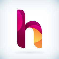 Modern twisted letter H