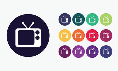 Television icon - Vector symbol