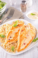 chicken breast and barley