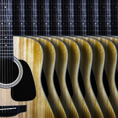 Guitar background.