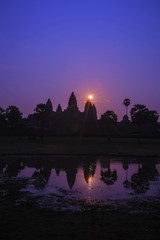 Sunrise at Angkor Wat World Heritage, Siem Reap, Cambodia