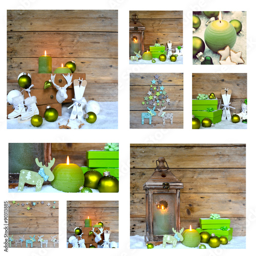 weihnachten collage dekoration gr n imagens e fotos. Black Bedroom Furniture Sets. Home Design Ideas