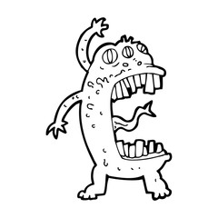 cartoon crazy monster