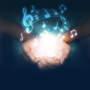 mani, note, musica, musicali, musicista