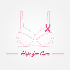 Breast Cancer Awareness Background. Vector elements and inspirat
