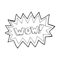 cartoon wow explosion