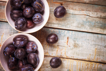 plums in dish