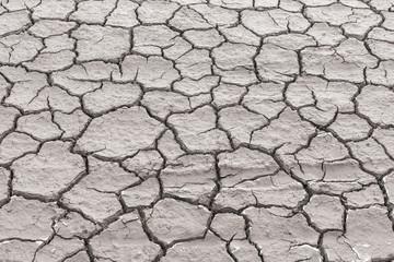 Cracked ground soil texture