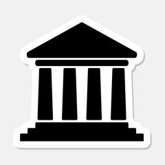Icon of bank building black