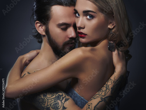 Sexy girl and sexy man