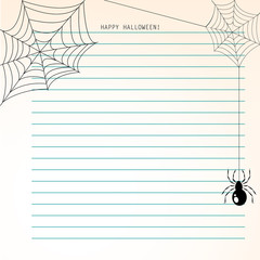 Lined paper with halloweens motive