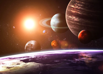 Wall Mural - Solar system and space objects. Elements of this image furnished