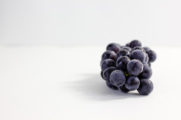 blue grape on white background