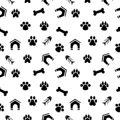 vector illustration dedicated to the pet trails.