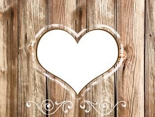 Weiss Herz freigestellt