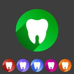 Tooth icon flat web sign symbol logo label