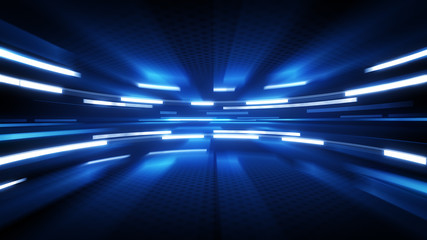 shining blue glow technology background