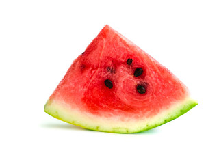 Isolated watermelon slice, cutout quarter