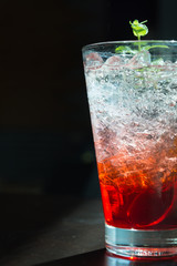 strawberry soda - soft focus with film filter