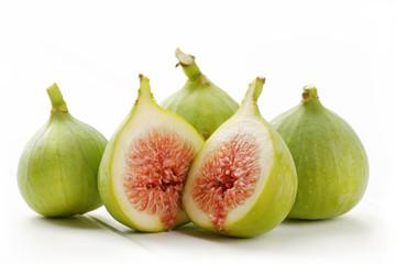 Zielone figi na białym tle