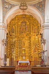 Cordoba - main altar in church of Monastery of st. Ann and st.Joseph