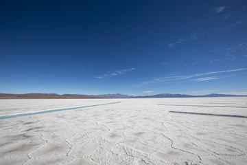 Photo sur Plexiglas Secheresse Salt desert in the Jujuy Province, Argentina